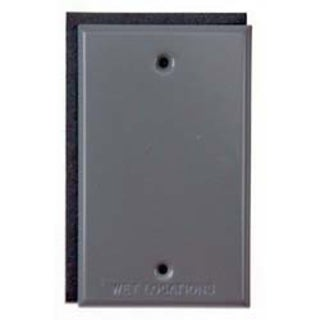Bell Outdoor 5173-5 Grey Single Gang Blank Switch Plate Cover