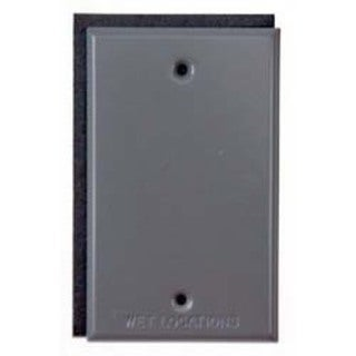 Bell Outdoor 5173-0 Grey Single Gang Blank Switch Plate Cover