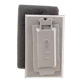 Bell Outdoor 5103-7 Bronze Single Gang Weatherproof GFCI Box Cover