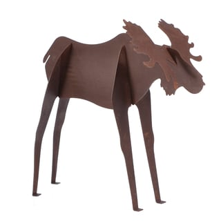 Universal Home and Garden MSMS-64 13-inches L X 4-inches W X 14-inches H Steel Rusty Moose