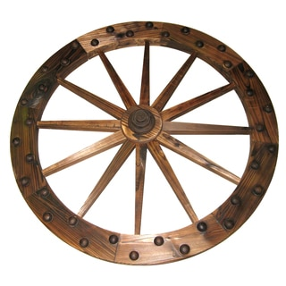 Lehigh-country TX93759 36-inches Deluxe Wooden Wagon Wheel