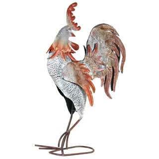 River Cottage Gardens R31401-YG 24-inches X 15-inches X 6-inches Galvanized Rooster