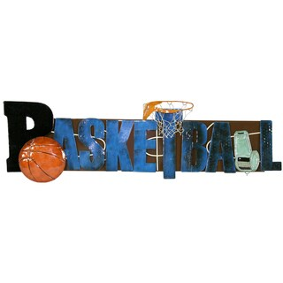River Cottage Gardens R11321-PBUPS Metal Basketball Wall Art