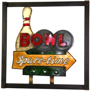 River Cottage Gardens R11215-BHUPS Metal BOWLING Wall Art