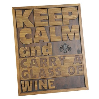 River Cottage Gardens P21752-BH-YGPB Keep Calm Wood Wall Plaque