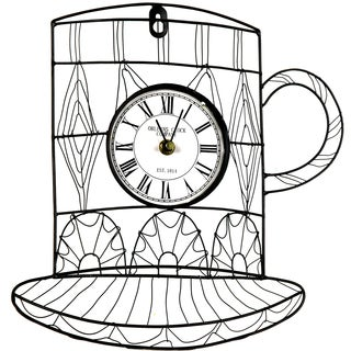 River Cottage Gardens J22602-BHYGPB Metal Mug Wall Clock