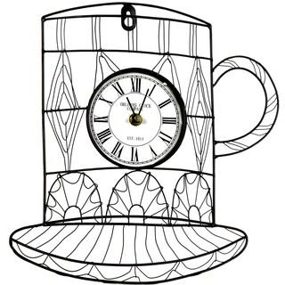 River Cottage Gardens J22602-BHYGPB Metal Mug Wall Clock