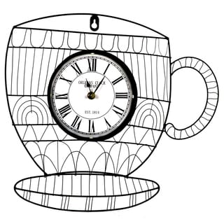River Cottage Gardens J22601-BHYGPB Metal Cup Wall Clock