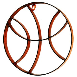 River Cottage Gardens J12623/3-PBUPS Metal Basketball Wall Art