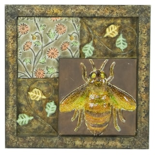 River Cottage Gardens B80776/4-YGUPS Insect Metal Wall Plaque