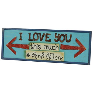 River Cottage Gardens A26769-BH-YGPB I LOVE YOU Wood Wall Plaque