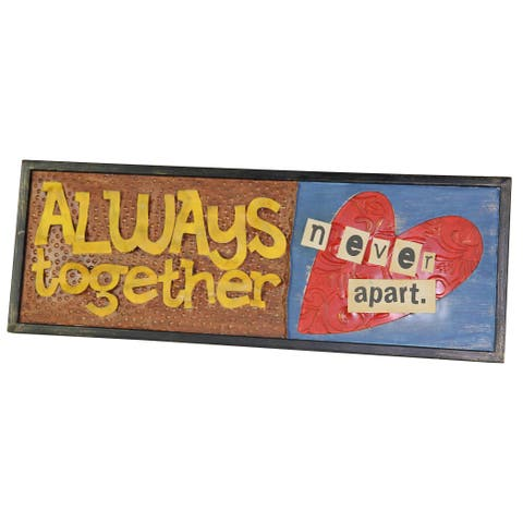 River Cottage Gardens A26767-BH-YGPB Always Together Wood Wall Plaque