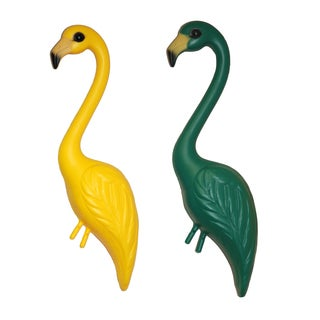 Pink Inc. YSW2-GRYE 33-inches Green & Yellow Flamingo