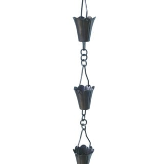 Patina Products R259 Antique Copper Fluted Cup Rain Chain