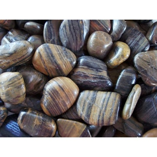 Exotic Pebbles & Aggregates PSS-1030 5-pound Striped Polished Pebbles