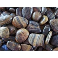 Exotic Pebbles & Aggregates PSS-1030 5-pound Striped Polished Pebbles