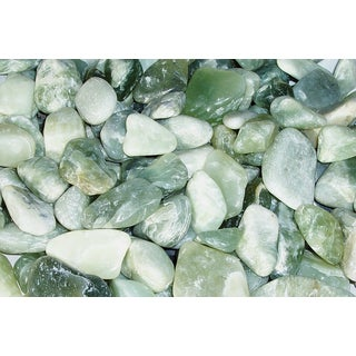 Exotic Pebbles & Aggregates PJS-1030 5-pound Jade Polished Pebbles