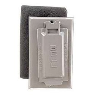 Bell Outdoor 5103-5 Grey Single Gang Weatherproof GFCI Box Cover