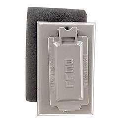 Shop Bell Outdoor 5103 0 Grey Single Gang Weatherproof Gfci Box