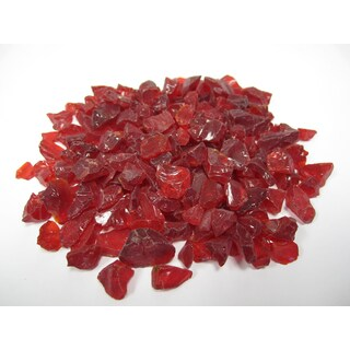 Exotic Pebbles & Aggregates EG10-L10 10-pound Red Glass Pebbles