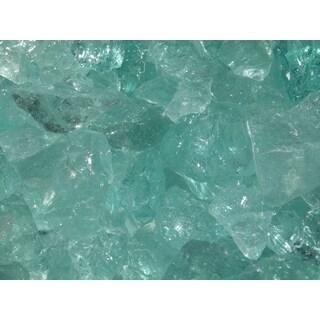 Exotic Pebbles & Aggregates EG10-L07 10-pound Aqua Glass Pebbles