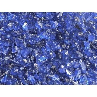 Exotic Pebbles & Aggregates EG10-L05 10-pound Ocean Blue Glass Pebbles