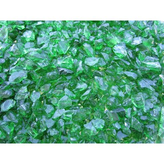 Exotic Pebbles & Aggregates EG02-L11S 2-pound Green Glass Pebbles