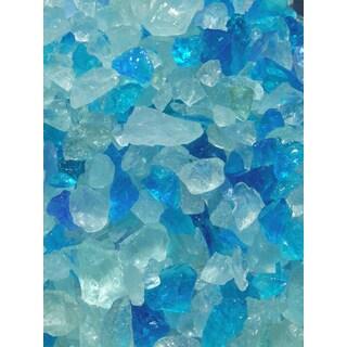 Exotic Pebbles & Aggregates EG02-L08S 2-pound Bahama Blend Glass Pebbles