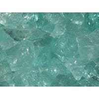 Exotic Pebbles & Aggregates EG02-L07S 2-pound Aqua Glass Pebbles