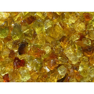 Exotic Pebbles & Aggregates EG02-L06S 2-pound Chestnut Glass Pebbles