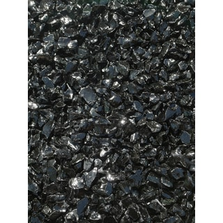 Exotic Pebbles & Aggregates EG02-L02S 2-pound Black Glass Pebbles