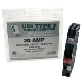 UBI VPKUBIZ0220 20 Amp Dual Pole Thin Circuit Breaker