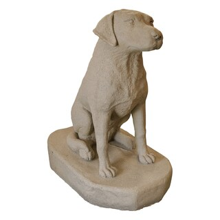 Emsco Group 2302-1 24-inches X 34-inches X 30-inches Sand Labrador Statue