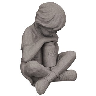 Emsco Group 2226-1 22-inches X 23-inches X 25.5-inches Granite Boy & Jar Statue