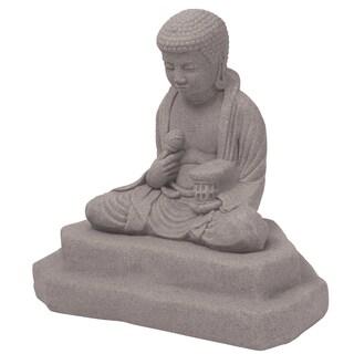 Emsco Group 2221-1 40-inches X 24-inches X 25-inches Granite Meditating Buddha