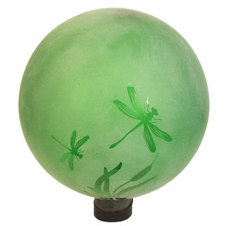 Echo Valley 8745J 10-inches Etched Jade Dragonfly Gazing Globe