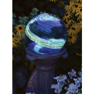 Echo Valley 8640 6-inches Blue Swirl Illuminarie Gazing Globe