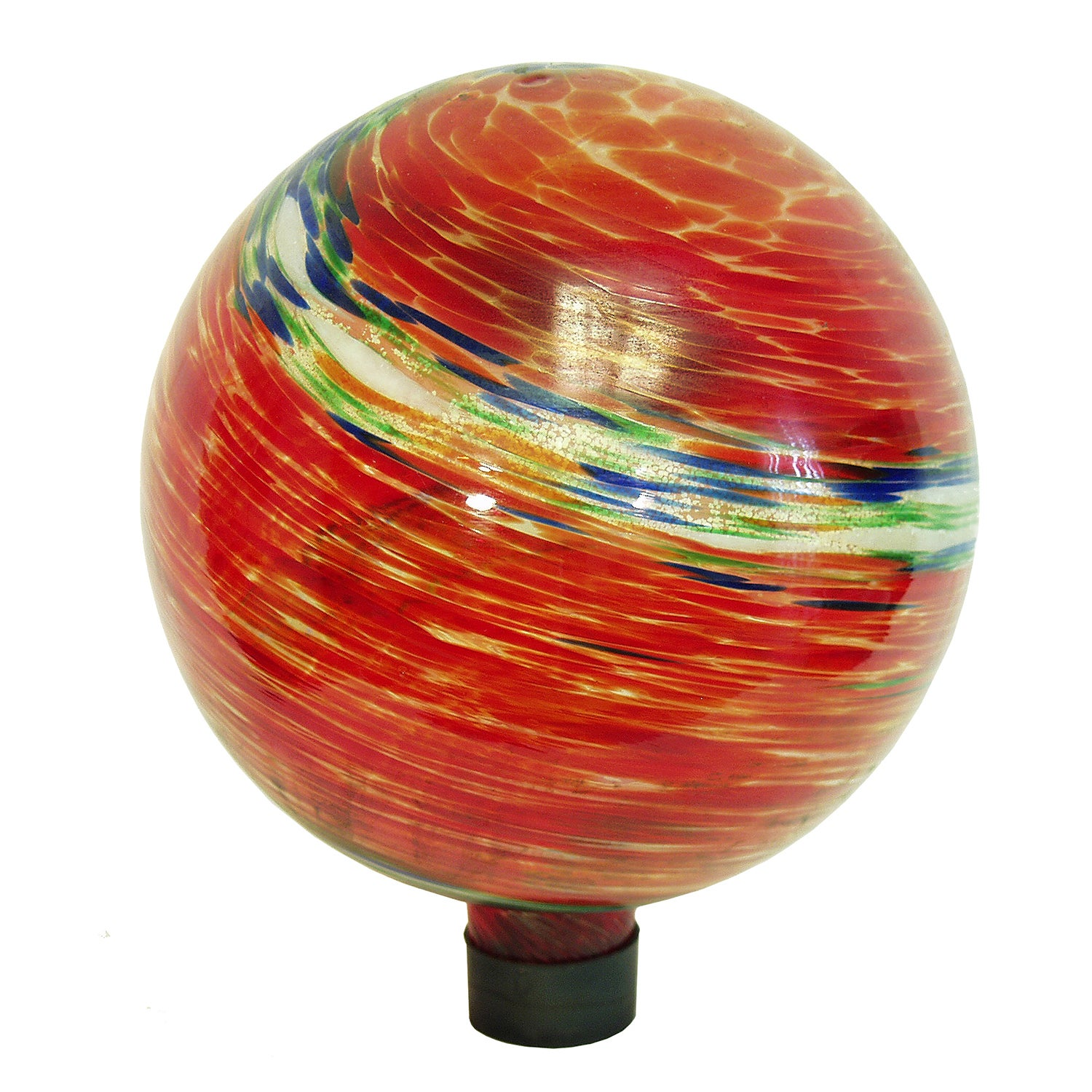 Echo Valley 8155 10-inches Red Swirl Illuminarie Gazing G...