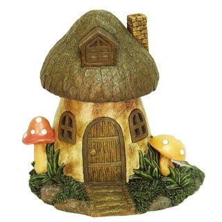 Echo Valley 6291 8.5-inches Solar Mushroom Fairy Or Gnome Home