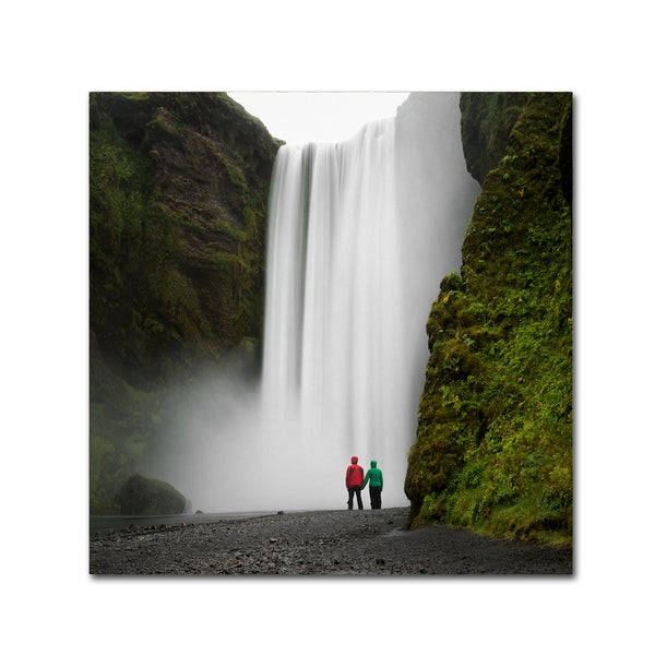 Philippe Sainte-Laudy 'Skogafoss for Two' Canvas Art