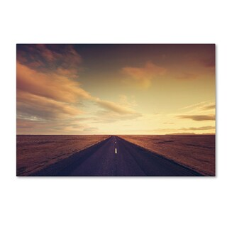 Philippe Sainte-Laudy 'Sunset Road' Canvas Art