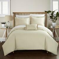 Chic Home Astrid Beige Cotton Duvet Cover 4-Piece Set