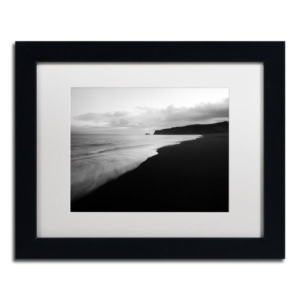 Philippe Sainte-Laudy 'On the Black Beach' Matted Framed Art