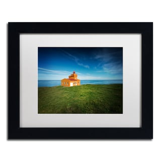 Philippe Sainte-Laudy 'Lighthouse Sauoanes' Matted Framed Art