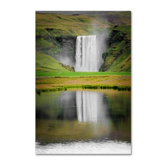 Philippe Sainte-Laudy 'The Reflection of Skogafoss' Canvas Art