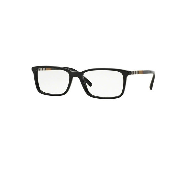 0ef73e3b215 Shop Burberry Mens BE2199F 3001 Black Plastic Rectangle Eyeglasses with  55mm Lens - Free Shipping Today - Overstock - 12382861
