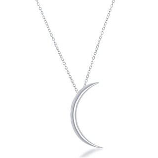 La Preciosa Sterling Silver Crescent Moon Necklace