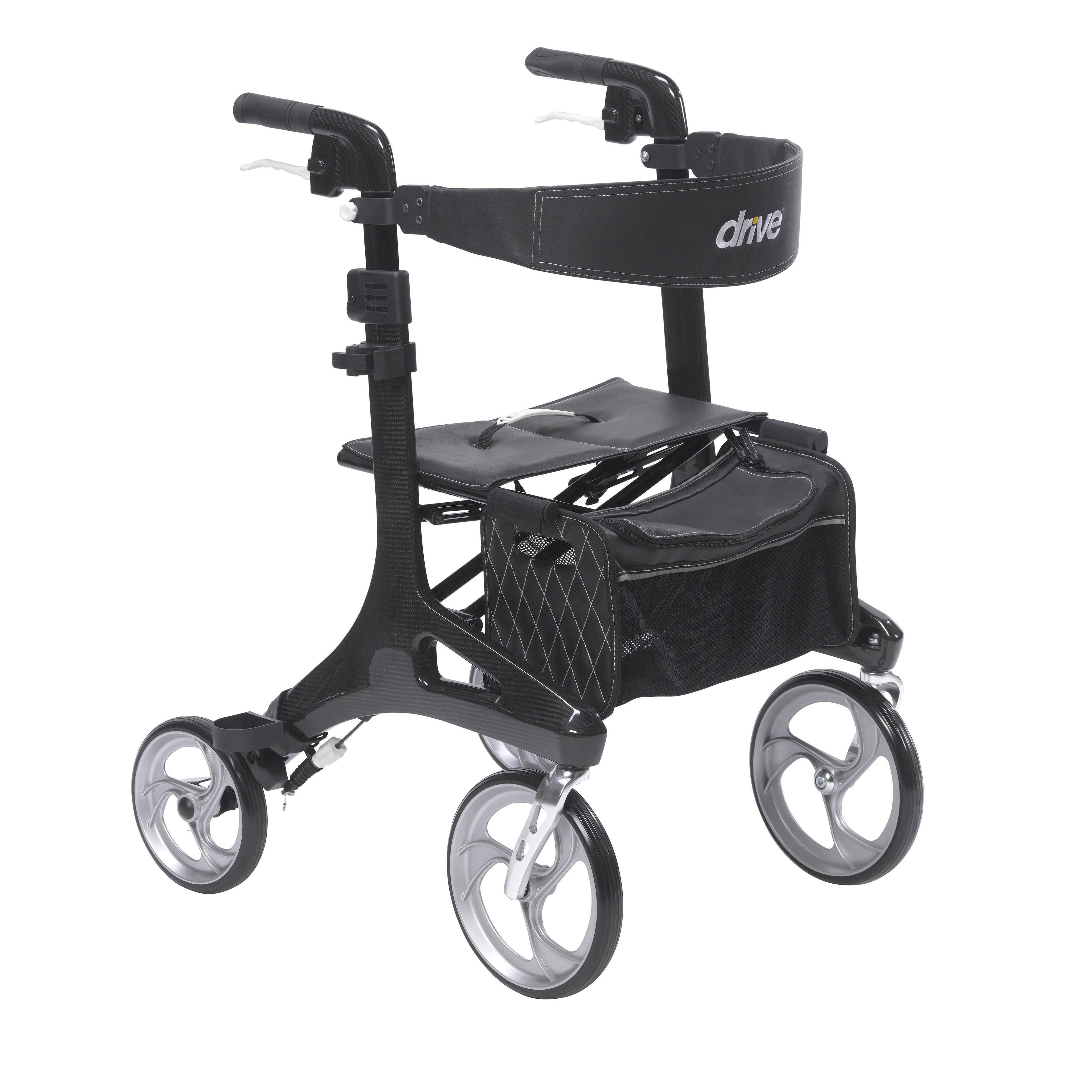 Drive Medical Nitro Elite CF Black Carbon Fiber Walker Ro...