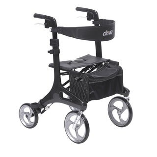 Drive Medical Nitro Elite CF Black Carbon Fiber Walker Rollator