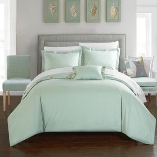 Chic Home Astrid Green Cotton Duvet Cover 4-Piece Set
